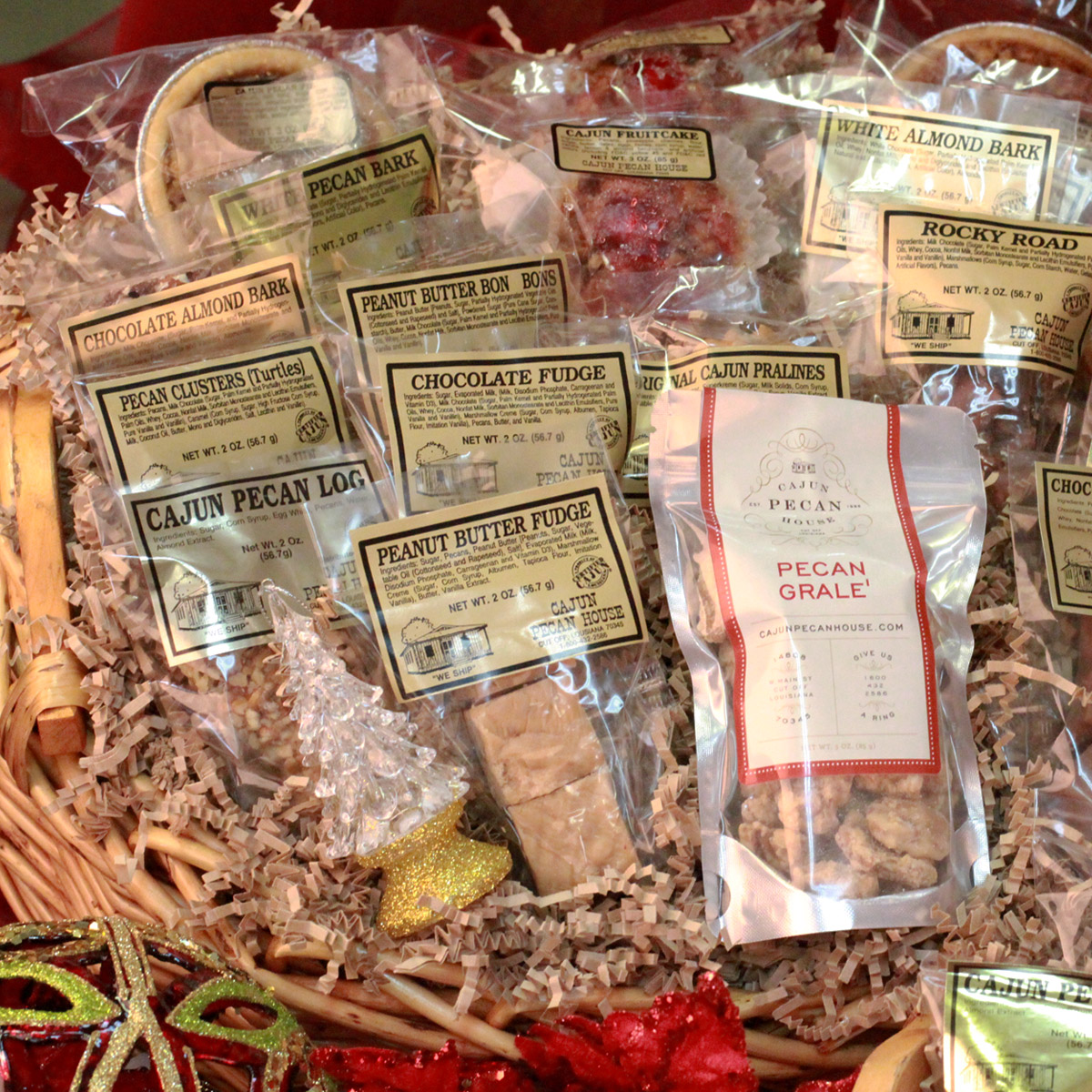 Gift baskets cajun pecan house for Pecan house